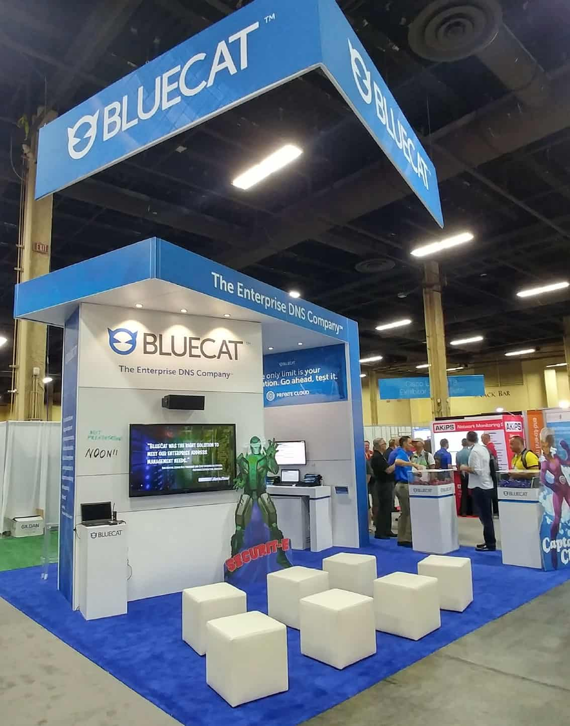 BlueCat Booth from Cisco Live Las Vegas